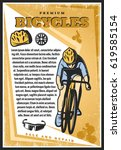 colored vintage cycling poster...   Shutterstock .eps vector #619585154