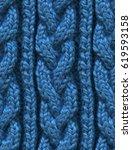 knitting hand made wool... | Shutterstock . vector #619593158