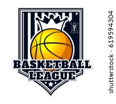 vector logo basketball game for ... | Shutterstock .eps vector #619594304