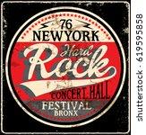 hard rock music poster | Shutterstock .eps vector #619595858
