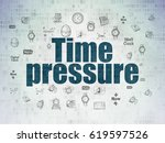 time concept  painted blue text ... | Shutterstock . vector #619597526