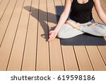 close up picture of meditation... | Shutterstock . vector #619598186