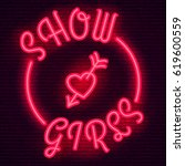 Neon Sign  The Word Show Girls...