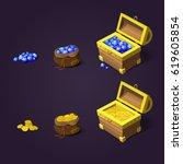 set of game design treasures....   Shutterstock .eps vector #619605854