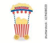 illustration vector of popcorn... | Shutterstock .eps vector #619608020