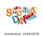 the shortest day. december 21.... | Shutterstock .eps vector #619610378