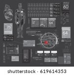hud ui for app. abstract...   Shutterstock .eps vector #619614353