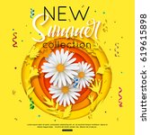 new summer collection... | Shutterstock .eps vector #619615898