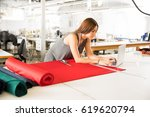 good looking young brunette...   Shutterstock . vector #619620794