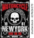 motorcycle tee graphic design | Shutterstock .eps vector #619626170