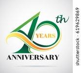 40 years anniversary... | Shutterstock .eps vector #619629869
