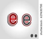 letter e logo | Shutterstock .eps vector #619630700