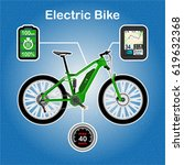 electric bike vector... | Shutterstock .eps vector #619632368