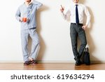men wearing pajamas ... | Shutterstock . vector #619634294