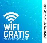 wifi gratis  spanish... | Shutterstock .eps vector #619635980