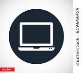 vector monitor icon  flat... | Shutterstock .eps vector #619646429