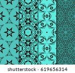 set of seamless pattern.... | Shutterstock .eps vector #619656314
