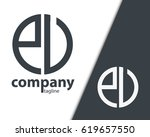 initial letter pu pv eu ev with ... | Shutterstock .eps vector #619657550