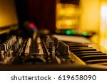 Small photo of music studio for dj producers with synthesizers