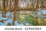 beautiful sunset reflected in... | Shutterstock . vector #619663463