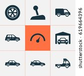 auto icons set. collection of...   Shutterstock .eps vector #619664396