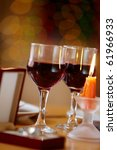 Image Of Wineglasses  Candle...