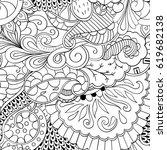 tracery seamless calming... | Shutterstock .eps vector #619682138