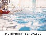happy children kids group at... | Shutterstock . vector #619691630