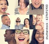 set of diversity people... | Shutterstock . vector #619691900
