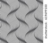 geometric waves pattern.... | Shutterstock .eps vector #619699100