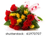 Bouquet Red And Yellow Roses T...