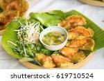 vietnamese shrimp pancake  banh ... | Shutterstock . vector #619710524