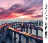 Dalian Crosssea Bridge Dusk Landmark - Fine Art prints