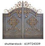 Fragment Of Baroque Metal Gate  ...