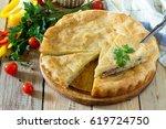 A Classic Quiche Lorraine Pie...
