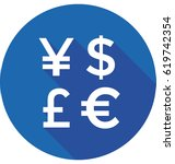 currency symbols vector icon | Shutterstock .eps vector #619742354
