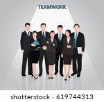 business people | Shutterstock .eps vector #619744313