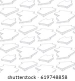 seamless pattern with hand... | Shutterstock .eps vector #619748858