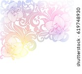 floral background with flower... | Shutterstock .eps vector #619748930