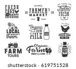 farmer s market  organic food ... | Shutterstock .eps vector #619751528