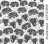 beautiful seamless pattern... | Shutterstock .eps vector #619767890