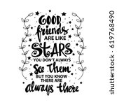 good friends are like stars... | Shutterstock .eps vector #619768490