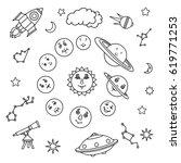 spaceship  stars  planets  moon ...   Shutterstock .eps vector #619771253