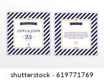 marine nautical wedding... | Shutterstock .eps vector #619771769