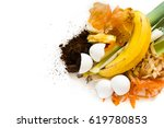 organic waste  food and home... | Shutterstock . vector #619780853