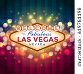 vector las vegas sign on... | Shutterstock .eps vector #619781198