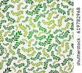 seamless green leaf pattern....   Shutterstock .eps vector #619782968