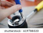 disassemble   repair process of ... | Shutterstock . vector #619788320