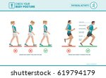 the correct walking and running ...   Shutterstock .eps vector #619794179