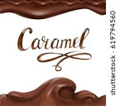 liquid chocolate  caramel or... | Shutterstock .eps vector #619794560